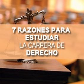 7 razones para estudiar la carrera de derecho