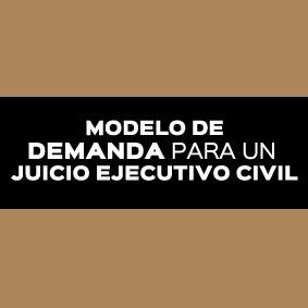 DEMANDA PARA UN JUICIO EJECUTIVO CIVIL