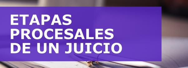ETAPAS PROCESALES DE UN JUICIO