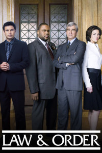 LAW & ORDER -- Pictured: (l-r) S. Epatha Merkerson as Lt. Anita Van Buren, Jeremy Sisto as Cyrus Lupo, Anthony Anderson Detective Kevin Bernard, Sam Waterston as Asst. D.A. Jack McCoy, Alana De La Garza as Connie Rubirosa, Linus Roache as Michael Cutter -- NBC Photo: Virginia Sherwood
