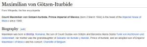 maximiliano biografia wikipedia