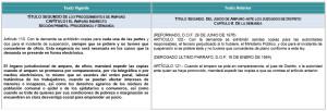 tabla comparativa ley de amparo artículo110