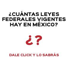 ¿CUÁNTAS LEYES FEDERALES VIGENTES HAY EN MÉXICO?