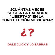 CUANTAS VECES SE CITA LA PALABRA LIBERTAD EN LA CONSTITUCION MEXICANA