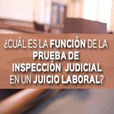 cual es la funcion de la prueba de inspeccion judicial en un juicio laboral