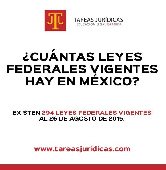 cuantas leyes federales vigentes hay en mexico