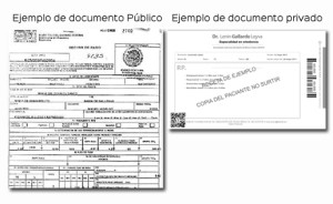 ejemplo documento público y privado
