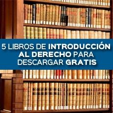 5 libros de introduccion al derecho para descargar gratis