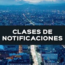 CLASES DE NOTIFICACION