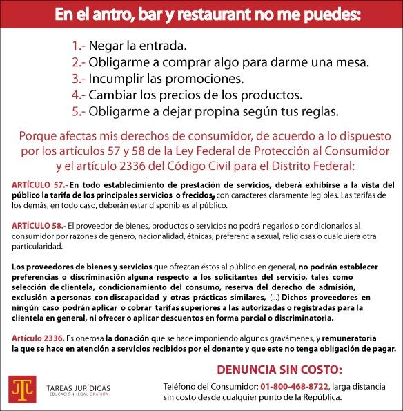 DERECHOS EN EL ANTRO-TAREAS JURIDICAS