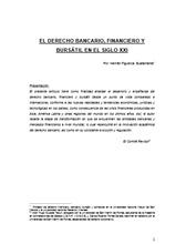 DERECHO BANCARIO Y BURSATIL COMPARADO PERU