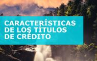 CARACTERÍSTICAS DE LOS TÍTULOS DE CRÉDITO