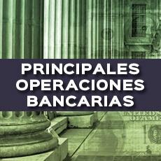 principales operaciones bancarias
