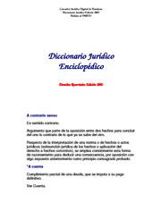 DICCIONARIO JURIDICO ENCICLOPEDICO