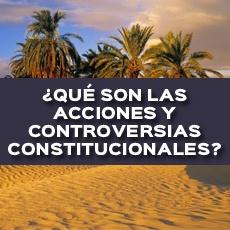 QUE SON LAS ACCIONES Y CONTROVERSIAS CONSTITUCIONALES