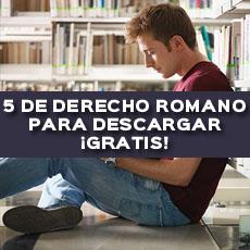 5 LIBROS DERECHO ROMANO