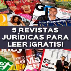 5 REVISTAS JURIDICAS PARA LEER GRATIS
