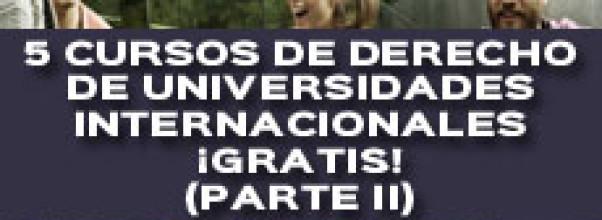 5 CURSOS DE DERECHO DE UNIVERSIDADES INTERNACIONALES ¡GRATIS! (PARTE II)