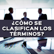 CLASIFICACION DE LOS TERMINOS