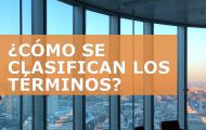 CLASIFICACIÓN DE LOS TÉRMINOS