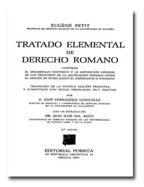 Tratado elemental de derecho romano eugene petit