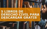 5 LIBROS DE DERECHO CIVIL PARA DESCARGAR GRATIS