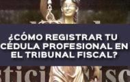 ¿CÓMO REGISTRAR TU CÉDULA PROFESIONAL EN EL TRIBUNAL FEDERAL DE JUSTICIA FISCAL Y ADMINISTRATIVA?