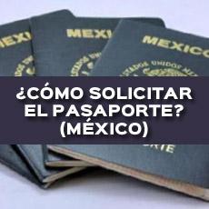como solicitar el pasaporte mexico