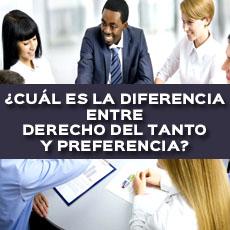 cual es la diferencia entre derecho del tanto y preferencia