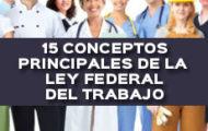 15 CONCEPTOS PRINCIPALES DE LA LEY FEDERAL DEL TRABAJO