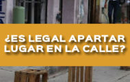 ¿ES LEGAL APARTAR LUGAR EN LA CALLE?
