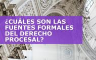 ¿CUÁLES SON LAS FUENTES FORMALES DEL DERECHO PROCESAL?
