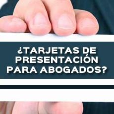 TARJETAS DE PRESENTACION PARA ABOGADOS