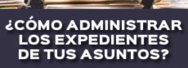 ¿CÓMO ADMINISTRAR LOS EXPEDIENTES DE TUS ASUNTOS?
