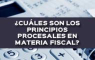 ¿CUÁLES SON LOS PRINCIPIOS PROCESALES EN MATERIA FISCAL?