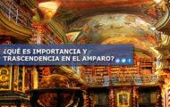 ¿QUÉ ES IMPORTANCIA Y TRASCENDENCIA EN EL AMPARO?