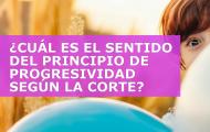 ¿CUÁL ES EL SENTIDO Y EXIGENCIAS DEL PRINCIPIO DE PROGRESIVIDAD SEGÚN LA CORTE?
