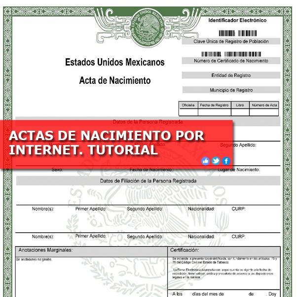 ACTAS DE NACIMIENTO POR INTERNET. TUTORIAL – Tareas Jurídicas